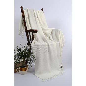 Плед-накидка Buldans - Bohem off white білий 130*180