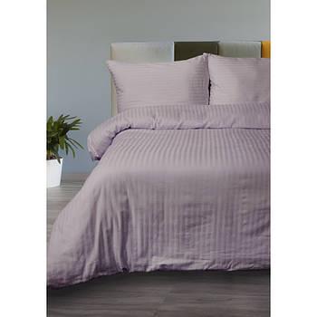Постельное белье Lotus Отель - Сатин Страйп лиловый 1*1 евро (Турция)