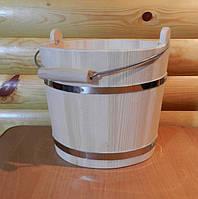 Відро в сауну з дерева ручної роботи