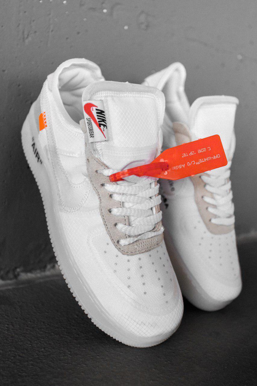 Женские белые Кроссовки Nike Air Force 1 Off White