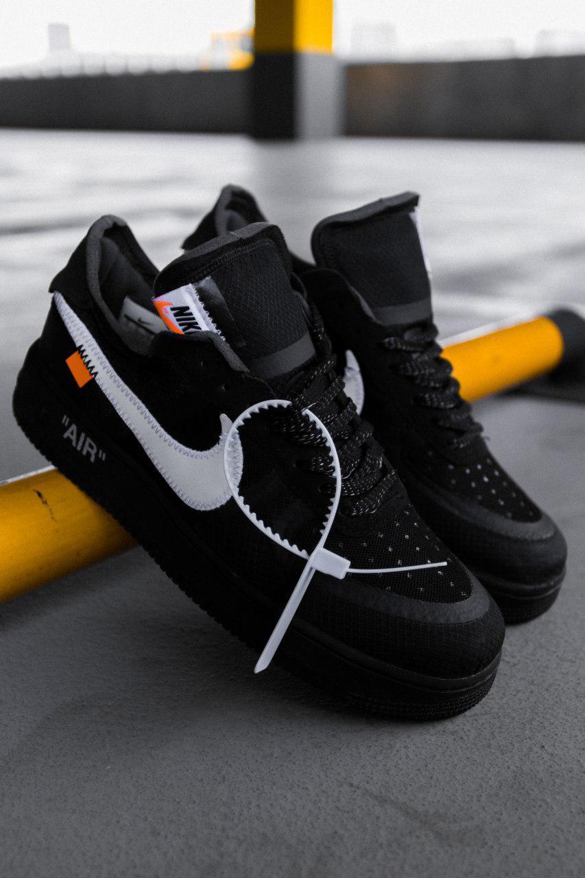 Женские черные Кроссовки Nike Air Force Off White