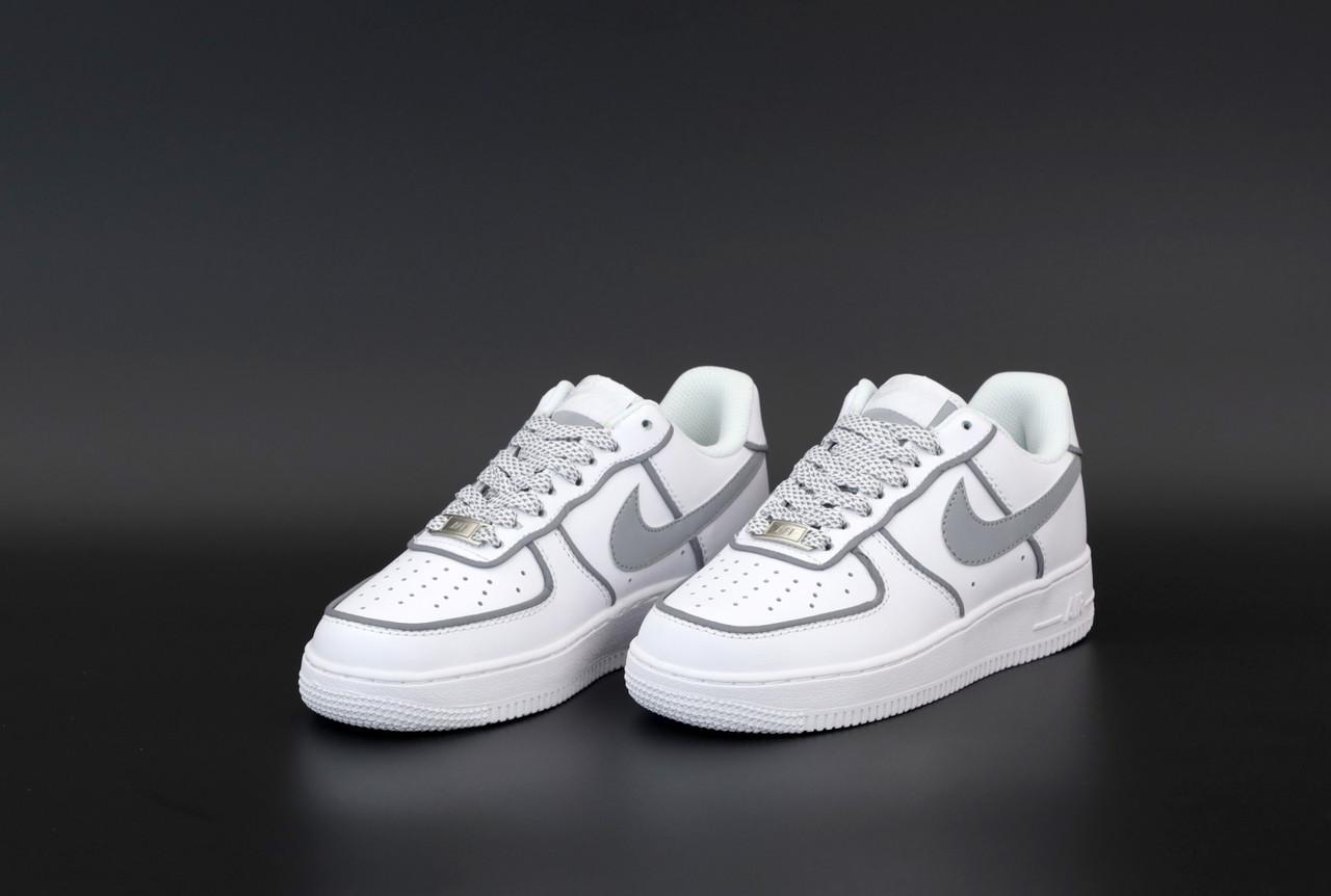 Женские белые Кроссовки Nike Air Force 1