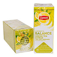 Чай пакетований Lipton Green Tea Citrus (Зелений цитрусовий чай) 25 шт