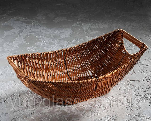плетеная корзинка ладья