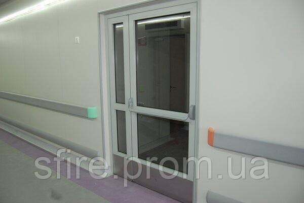 Двері протипожежні алюмінієві засклені до 90% ЕІ 60 внутрішні
