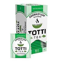 Чай пакетований Totti в індивідуальній упаковці Смарагдовий лист 25 шт.