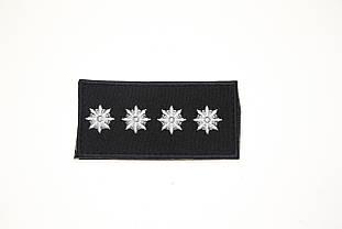 Погон Капітан поліції на липучці (1шт) 9166