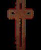 Памятник на кладбище из металла 50*103см*8мм, памятник Христианство 13