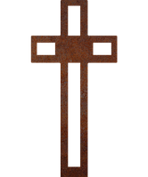 Надгробок з металу Християнство 13 Сталь Сorten 6 мм