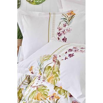 Постельное белье Karaca Home - Palava fusya фуксия пике 220*230 евро