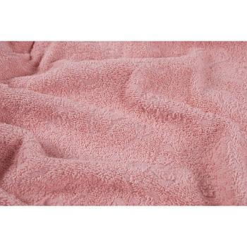 Простынь махровая Lotus - Sun розовый 160*220