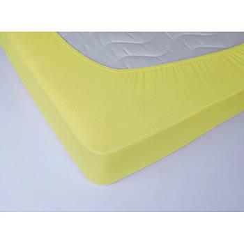 Простынь махровая на резинке Lotus - Желтая 160*200+25