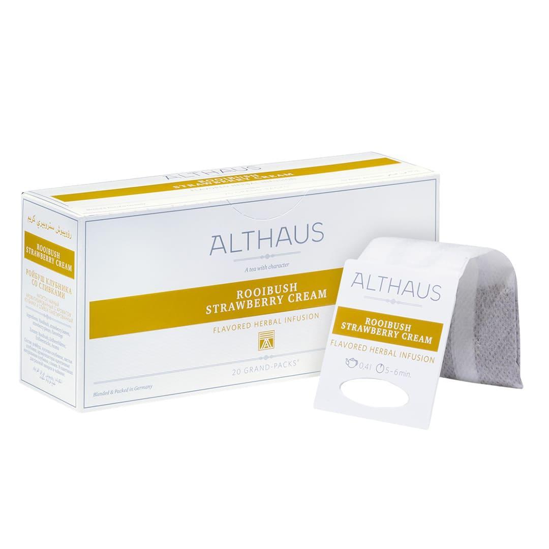 Чай гранпак Althaus Grand Packs Rooibush Strawberry Cream 4g x 20шт.