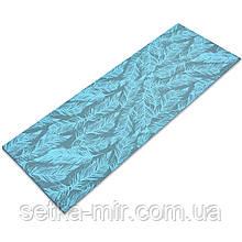 Коврик для йоги и фитнеса PVC двухслойный 4мм SP-Planeta FEATHER FI-0181, цвета в ассортименте Мятный
