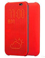 Чохол - книжка Dot View для HTC One M9+ HTC, Китай, Чохол-книжка, Червоний