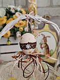 """Пасхальные яйца """"Ромашки"""", Н-6-7см, 45/35 (цена за 1 яйцо плюс 10 грн), для корзины, дома, фото 2"""