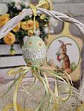 """Пасхальные яйца """"Ромашки"""", Н-6-7см, 45/35 (цена за 1 яйцо плюс 10 грн), для корзины, дома, фото 3"""