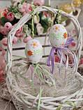 """Пасхальные яйца """"Ромашки"""", Н-6-7см, 45/35 (цена за 1 яйцо плюс 10 грн), для корзины, дома, фото 4"""