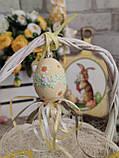 """Пасхальные яйца """"Ромашки"""", Н-6-7см, 45/35 (цена за 1 яйцо плюс 10 грн), для корзины, дома, фото 6"""