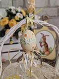 """Пасхальные яйца """"Ромашки"""", Н-6-7см, 45/35 (цена за 1 яйцо плюс 10 грн), для корзины, дома, фото 9"""