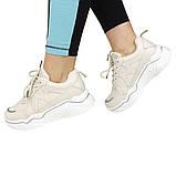 Кроссовки женские бежевые комфортные Artin р.36-41, фото 3