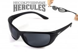 Очки HERCULES-6 (SMOKE), (черные линзы), гибкие