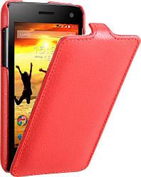 Чехол для Fly IQ4490i - Fly Flip PU leather, красный