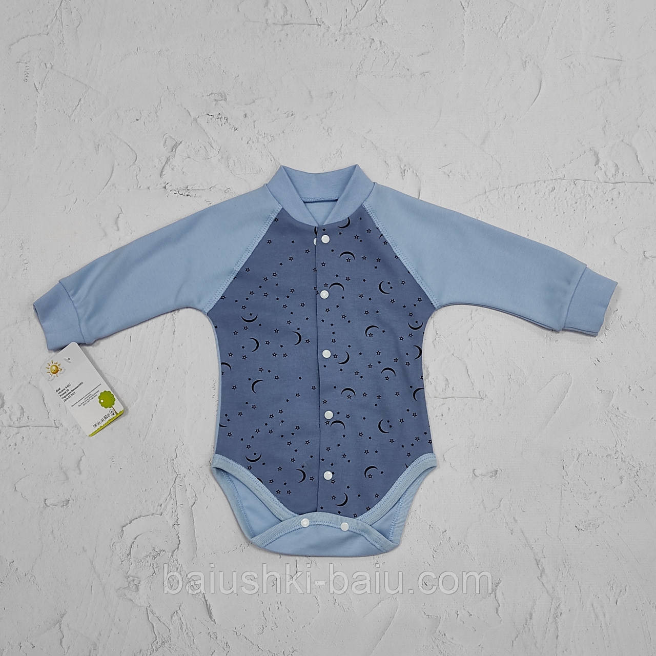 Боди на кнопках для новорожденного малыша (интерлок)