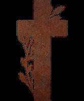 Надгробие из металла Христианство 18 Сталь Сorten 6 мм