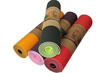"""Коврик для йоги """"ТРЕ"""", фитнеса, пилатеса, растяжки, толщина 6 мм"""