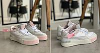 Женские Кроссовки Puma Cali Mix Пума Кали Микс Серо-белые (36,40). Женская обувь. Реплика