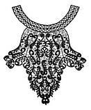 Аппликация украшение для одежды кружевная черная, фото 2