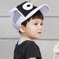 Стильная детская бейсболка в черно-белых тонах. Маленький модник. Высокое качество. Детская кепка. Код: КД42, фото 1