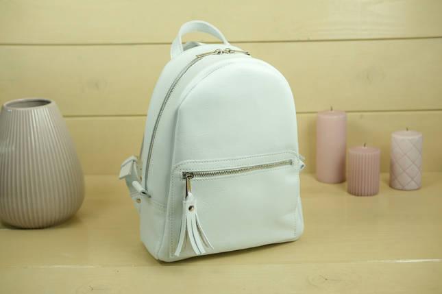 Жіночий шкіряний рюкзак Лімбо, розмір середній, Гладка шкіра, колір Білий, фото 2