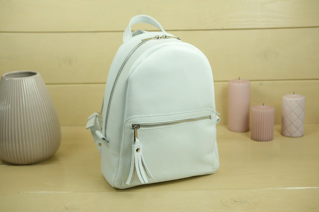 Жіночий шкіряний рюкзак Лімбо, розмір середній, Гладка шкіра, колір Білий