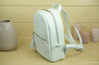Жіночий шкіряний рюкзак Лімбо, розмір середній, Гладка шкіра, колір Білий, фото 3
