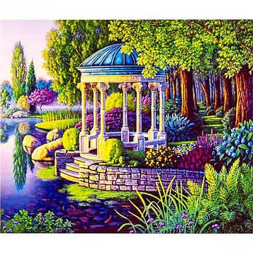 Картина по номерам 40х50 см DIY Парковая беседка (FX 30412)