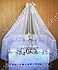 """Детское постельное белье в кроватку """"Бим Бом"""" комплект 7 ед. (мишка сердце), фото 5"""