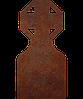 Памятник на кладбище из металла 50*103см*8мм, памятник Христианство 24