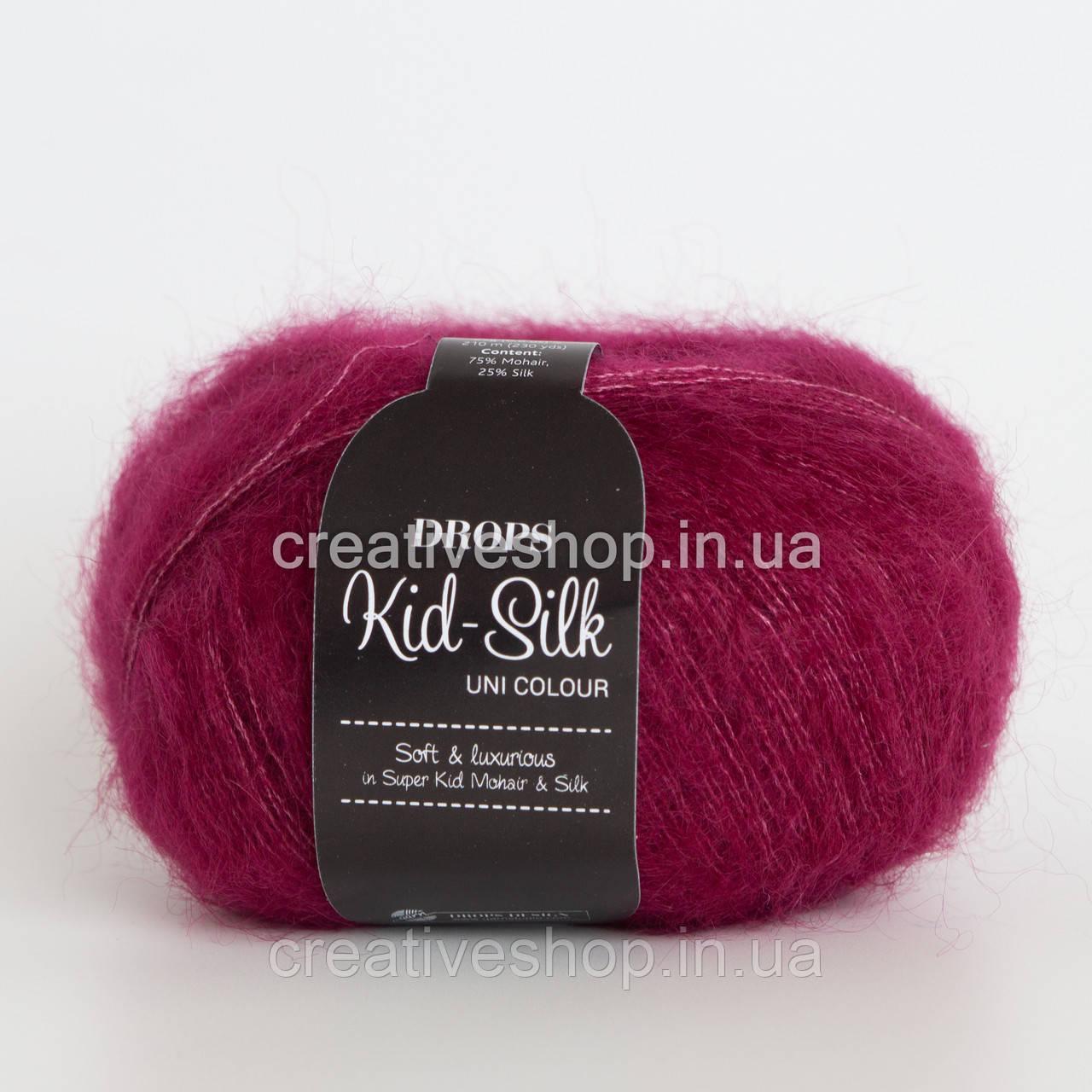 Пряжа Drops Kid Silk (цвет 17 dark rose)