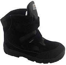 Ботинки Minimen 16BLACKKOR р. 37, 38 Черные. Детская зимняя обувь для мальчиков