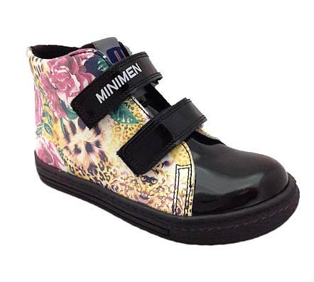 Ботинки Minimen 67LACK Черный лак, фото 2