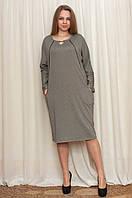 Женское платье кофейного цвета ( размер 54)