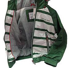Детская Куртка-Ветровка мальчику 79GREEN Зеленый с белым