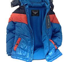 Детская демисезонная куртка мальчику 66ORANGBLUE Синяя