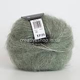 Пряжа Drops Kid Silk (цвет 34 sage green), фото 2
