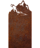 Надгробок з металу Спорт 1 Сталь Сorten 6 мм