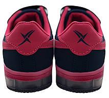 Детские текстильные кроссовки 73ROSE Синий с розовым, фото 2