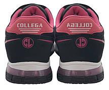 Детские текстильные кроссовки 73ROSESHNUR26 р. 28 Черный с розовым, фото 2