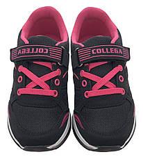 Детские текстильные кроссовки 73ROSESHNUROK31 Черный с розовым, фото 3